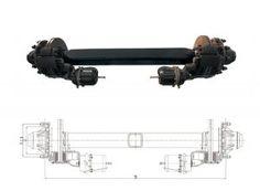 Disc-Brake-Semi-Trailer-Axle