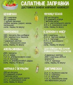Полезные заправки для салатов👍 На заметку хозяюшкам😛 Спасибо за лайк 👍♥️ (Автор @mirsalatov) #eda #vkusno #вкусно #рецепты #еда