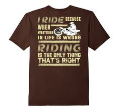 Amazon.com: Motocross Riding is right T-Shirt Design: Clothing