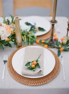 Remember when we gave you fab table runner ideas to try for your wedding reception table? Time to pair those with pretty table settings! You can't deny that amazing silverware can really add elegance to any table, but there are lots of ways to arrange those place cards, utensils, and menu in a creative fashion. Let…