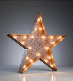 Vintage Marquee Lights Star