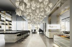 Saks Fifth Avenue - Houston, bar adjacent to Men's department.  Rendering of the future Saks store in Houston to open April 28, 2016.
