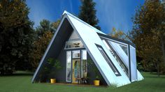 A-Frame design with two lofts and open greenhouse