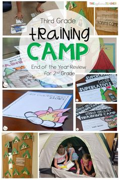 Third Grade Training Camp: End of the Year Review for 2nd 2nd Grade Crafts, 2nd Grade Activities, End Of Year Activities, Classroom Activities, Classroom Ideas, Classroom Supplies, Camping Activities, Motor Activities, Classroom Organization