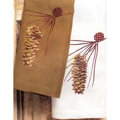 bath towels with pine cones pine cone linen tip towels