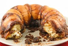 Cream cheese monkey bread - made using biscuits.