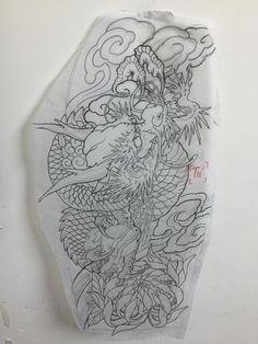 tätowieren Source by pinkyhro Leg Tattoos, Sleeve Tattoos, Cool Tattoos, Tatoos, Japanese Tattoo Art, Japanese Tattoo Designs, Japanese Art, Dragon Tattoo Drawing, Japan Tattoo Design