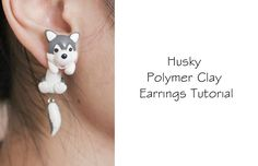 Polymer Clay Tutorial: Happy Earrings (Fairy Tail), via YouTube.