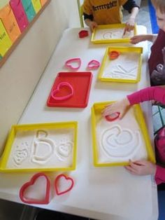 Nice for pre-requisite skills for early hand writing that have a sensory element added.