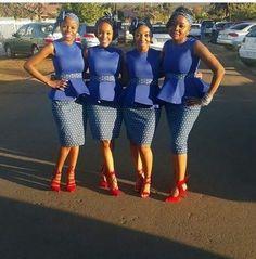 amazing shweshwe dresses style for trends 2017 amazing shweshwe dresses style for trends 2017 African Wedding Theme, African Wedding Attire, African Attire, African Wear, African Women, African Bridesmaid Dresses, African Print Dresses, African Fashion Dresses, African Dress