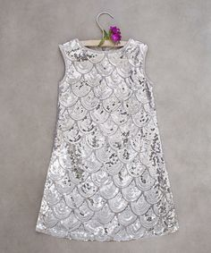 2735f6043c92 Look at this Joyfolie Silver Clara Dress - Toddler   Girls on today!