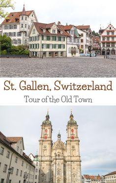 Getting to Know St. Gallen, Switzerland- A Tour of St. Gallen's Old Town Voyage Europe, Europe Travel Guide, Travel Guides, Switzerland Tour, Switzerland Vacation, Locarno Switzerland, Switzerland Christmas, Switzerland Itinerary, European Destination