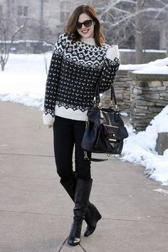 Authentic fair isle - can't crochet one quite like this, but I do want to crochet a black and white fair isle sweater.