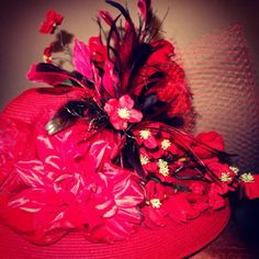 Red Derby Hat #AfternoonCrowns
