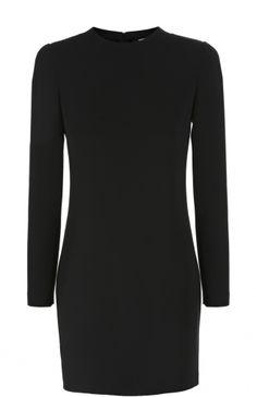 Женское чёрное облегающее мини-платье с длинным рукавом и круглым вырезом Dsquared2, сезон FW 16/17, арт. S75CU0392/S41833 купить в ЦУМ   Фото №1