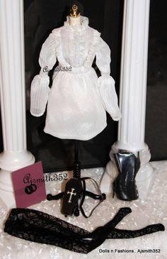 FR Dynamite Girls Spooky Sooki The Return Complete White Fashion Dress Set ajs