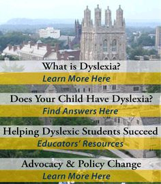 """The Yale Center for Dyslexia and Creativity - home of author Dr. Sally Shaywitz, MD. who has written the definitive book about dyslexia,   """"Overcoming Dyslexia"""""""