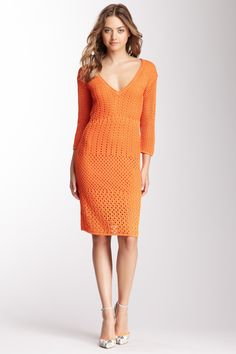 Catherine Malandrino Cotton Crochet Dress