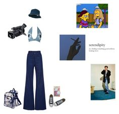 """blue baby"" by plastick ❤ liked on Polyvore featuring Converse, WithChic, Natasha Zinko and Panasonic"