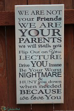 We Are Not Your Friends Painted Primitive by thestickerhut on Etsy, $45.00