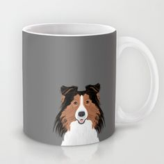 Jordan - Shetland Sheep Dog gifts for sheltie owners and dog people gift ideas perfect dog gifts Mug by PetFriendly - $15.00