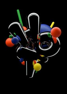 Neon Design, Graphic Design, Joshua Davis, 3d Poster, Air Max Day, Image Makers, Design Museum, Motion Design, Digital Image