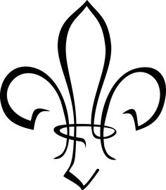 stylized fleur-de-lis by @kapn, I needed a stylized Scout sign/fleur-de-lis for a logo, so I made one., on @openclipart