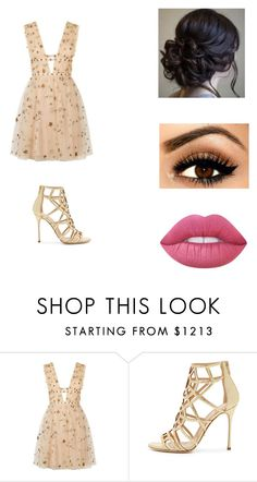 """Untitled #751"" by cayleymjohnson-1 ❤ liked on Polyvore featuring Valentino, Sergio Rossi and Lime Crime"