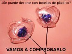 ¿Se puede decorar con botellas de plástico?