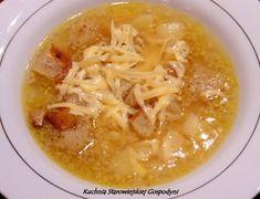 Czeska zupa czosnkowa · Kuchnia Starowiejskiej Gospodyni Cheeseburger Chowder, Soup Recipes, Macaroni And Cheese, Chili, Food And Drink, Ethnic Recipes, Dinners, Blog, Diet