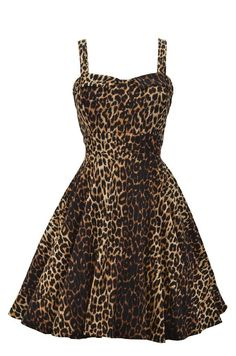 This retro inspired leopard swing dress is amazing! Features include a sweetheart bust line, tie-back detail, and zip closure in back. This dress has plenty of stretch making a great fit! Made in the USA Style Animal Print Fashion, Fashion Prints, Fashion Design, Animal Prints, Leopard Prints, Cheetah Print, Swing Dress, Dress Up, Babydoll Dress