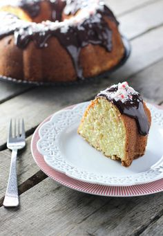 Peppermint Pound Cake