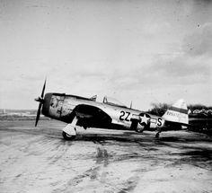 """Republic P-47, s/n 42-28972, 2Z-S, """"Miss Caesar"""" 405th FG, pilot Capt. Stanley L. Koslow"""