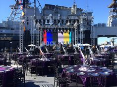 LED Wall installation for a dinner reception at USS Midway.