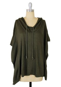 A cozy poncho sweater from Spotted Moth. Looks like a good Saturday morning piece.