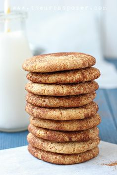 Paleo Style Snickerdoodle Cookies (Egg/Grain/Gluten/Dairy Free)