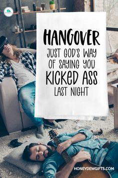 Thinking of an inexpensive way to accentuate your home bar or wine cellar? All you need is some of these funny quotes kitchen towels, and they will do the trick. Yes, a few of these hangover kitchen towels will look great in your home bar, wine cellar, and even in your kitchen or pantry.