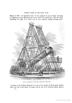 Sir W. Herschel's forty-foot reflecting Telescope. From The midnight sky, notes on the stars and planets, 1869.