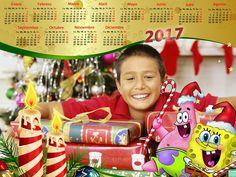 Recursos Photoshop Llanpac: Calendario del 2017 para Navidad de Bob Esponja pa...