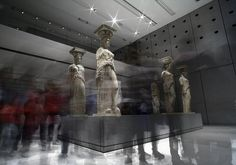 The Caryatids at the New Acropolis Museum, Athens, Greece
