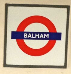 London Underground Logo, Balham Station