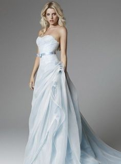 I am bringing along yet another new and elegant post of pale blue wedding dress! I have been madly looking for new sort of pale blue wedding dress Shop Wedding Dress Train, Wedding Dresses 2018, Colored Wedding Dresses, Wedding Dress Styles, Blue Dresses, Lace Wedding, Bridal Outfits, Bridal Dresses, Bridesmaid Dresses