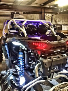 Project Cookie Monster based on a 2015 RZR 4 1000. Created by WC3 - Woods Cycle Country Customs. #WC3 #WoodsCycleCountry