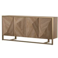 Shop AllModern for stylish sideboards and buffets. Store your extra table linens, dinnerware, and flatware in a modern kitchen buffet and expand your storage options! Buffet Console, Dining Buffet, Wood Buffet, Kitchen Buffet, Console Tables, Retro Sideboard, Modern Buffet, Solid Wood Shelves, Mid Century Dining