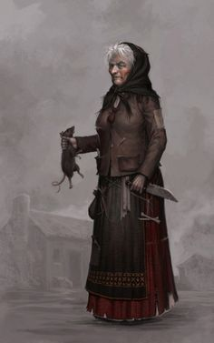 f Rogue townsperson witch NPC Looking for examples of what Nicholas's grandmother would look like. Warhammer Fantasy Roleplay, Fantasy Rpg, Medieval Fantasy, Dark Fantasy, Fantasy Forest, Fantasy Portraits, Character Portraits, Dungeons And Dragons Characters, Fantasy Characters