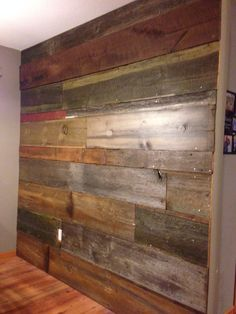 Pallet Barn Wood Wall For The Half Wall Decor