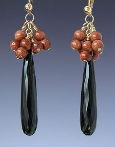 Beaded earrings by Kay Bonitz