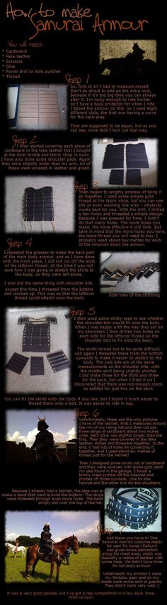 So uhh, lots of people seemed to like my Samurai armour, so I thought I'd make a tutorial! Sorry for any spelling errors. It's twenty minutes past midnight -------------------------------...
