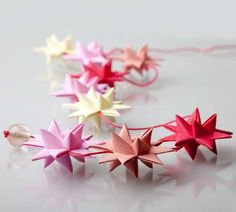 Star garland handmade by Stjernestunder.