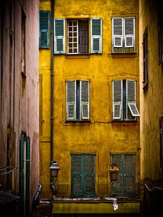 Mustard Yellow <3 Between the Buildings, Nice, France by tysonwilliams.com